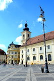 Typical urban landscape in Sibiu, European Capital of Culture for the year 2007 Royalty Free Stock Photography