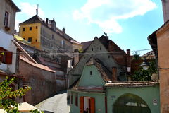 Typical urban landscape in Sibiu, European Capital of Culture for the year 2007 Stock Photo