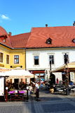 Typical urban landscape in Sibiu, European Capital of Culture for the year 2007 Royalty Free Stock Images