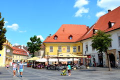 Typical urban landscape in Sibiu, European Capital of Culture for the year 2007 Stock Images