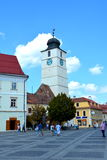 Typical urban landscape in Sibiu, European Capital of Culture for the year 2007 Stock Image