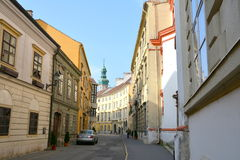 Typical urban landscape in  Sopron (Ödenburg), Hungary. When the area that is today Western Hungary was a province of the Roman Empire, a city called Stock Photography
