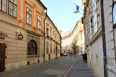Typical urban landscape in  Sopron (Ödenburg), Hungary. When the area that is today Western Hungary was a province of the Roman Empire, a city called Stock Image