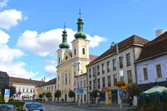 Typical urban landscape in the town Targu-Mures, Romania Stock Image