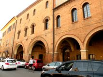 Typical urban lanscape in Ferrara, Italy Stock Images
