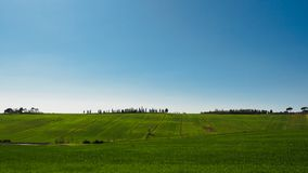 Typical Val d`Orcia landscape in the Tuscany, Italy. Landscape format stock images