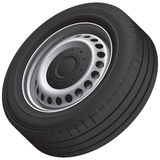 Typical vans wheel Stock Photography