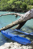 Typical Vanuatu boat - Blue Hole Royalty Free Stock Photo