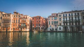 Typical Venetian architecture, historic buildings. Typical Venetian architecture, romantic retro photograph Stock Photos
