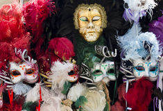 Typical Venetian Carnival Masks Stock Photo