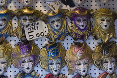 Typical Venetian Carnival Masks Stock Photos