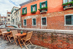 Typical venetian urban view. Royalty Free Stock Photos