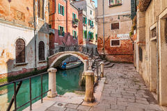 Typical venetian view. Royalty Free Stock Photo