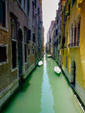 Typical Venice Canal with Gondolas Royalty Free Stock Image