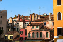 Typical Venice residential houses architecture. Italy. Copy spac Royalty Free Stock Photos