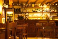 A typical Verona Bar, Italy. The interior of a typical Veronese Bar Restaurant near San Zeno Church Royalty Free Stock Image