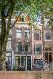A typical very narrow house in old Amsterdam Stock Image