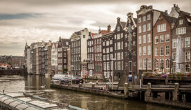 A typical very narrow house in old Amsterdam Royalty Free Stock Photos