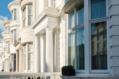 Typical Victorian facades in London Stock Images