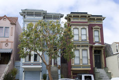 Typical victorian style San Francisco houses, California Stock Images