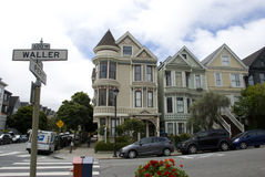 Typical victorian style San Francisco houses, California Royalty Free Stock Image