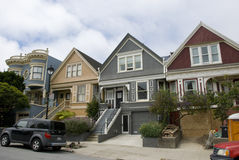 Typical victorian style San Francisco houses, California Royalty Free Stock Photos