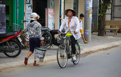 Typical Vietnamese street scene Stock Images