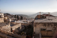 Typical viev in ancient hasid , Ortodox Jewish Safed old city Royalty Free Stock Photography