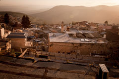 Typical viev in ancient hasid , Ortodox Jewish Safed old city Royalty Free Stock Images