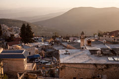 Typical viev in ancient hasid , Ortodox Jewish Safed old city Royalty Free Stock Photos