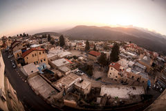 Typical viev in ancient hasid , Ortodox Jewish Safed old city Stock Images