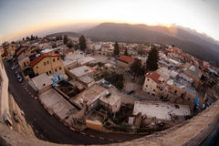 Typical viev in ancient hasid , Ortodox Jewish Safed old city Stock Photography