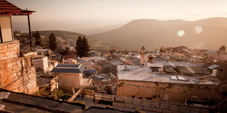 Typical viev in ancient hasid , Ortodox Jewish Safed old city Royalty Free Stock Photo