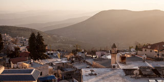 Typical viev in ancient hasid , Ortodox Jewish Safed old city Stock Image