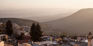 Typical viev in ancient hasid , Ortodox Jewish Safed old city Stock Photo