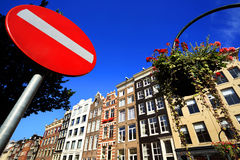 Typical view of Amsterdam Stock Photography