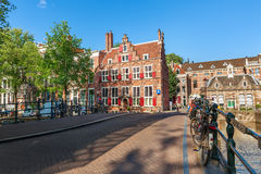 Typical view of Amsterdam. Stock Image
