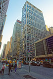 Typical view of busy New York streets Royalty Free Stock Photos