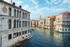 Typical view of the Canal Grande Canale in Venice, Italy Royalty Free Stock Photo