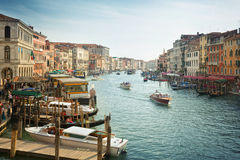 Typical view of the Canal Grande Canale in Venice, Italy Stock Image