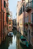 Typical view of the Canal Grande Canale in Venice, Italy Royalty Free Stock Photos