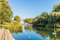 A typical view in Green park in London royalty free stock images