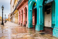 A typical view in Havana in Cuba royalty free stock images