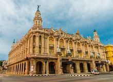 A typical view in Havana in Cuba stock photography
