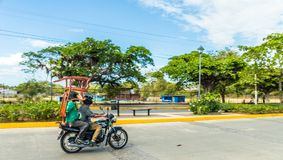 Typical view in leon Nicaragua royalty free stock photo