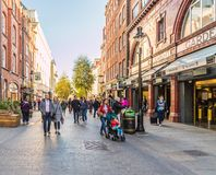 A typical view in London royalty free stock photos
