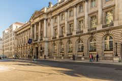 A typical view in London. London. November 2018. A view of the RAC club in pall mall in London stock photos