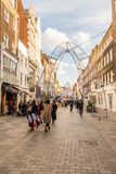 A typical view in London. London. November 2018. A view of South Molton Street in Mayfair in London royalty free stock photo