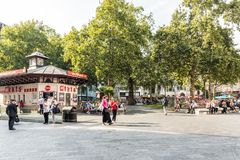 A typical view in London stock photos