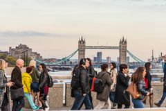A typical view in london stock images
